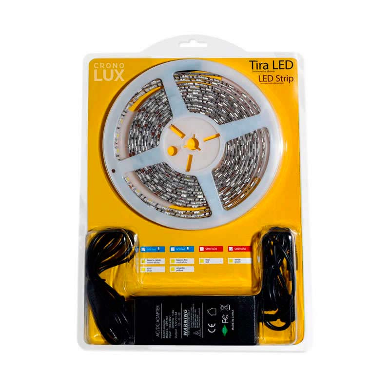 KIT tira LED flexible SMD5050, 5m (60 Led/m) - IP65, Blanco cálido